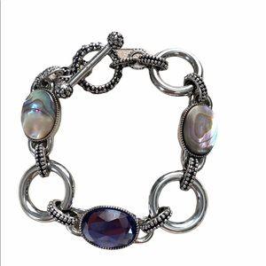 LIA SOPHIA•toggle mother of Pearl bracelet NWOT